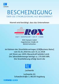 LEW-Zertifikat