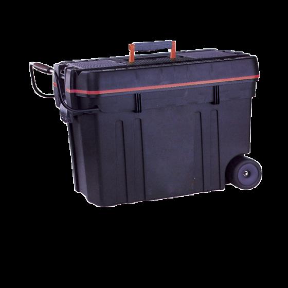 Koffer schwarz/rot